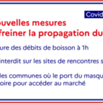 Covid-19 : De nouvelles mesures pour freiner la propagation de l'épidémie