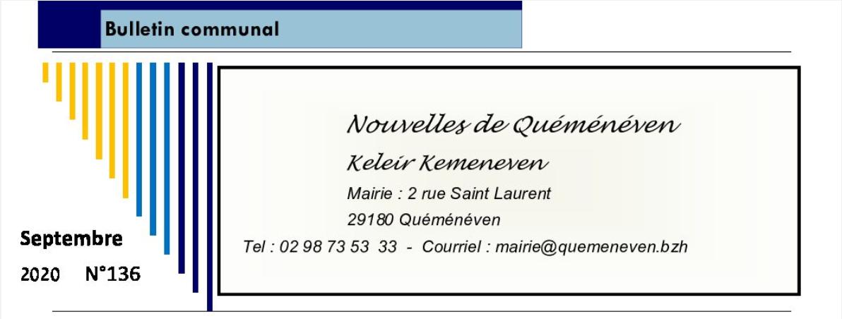 Bulletin municipal de septembre 2020