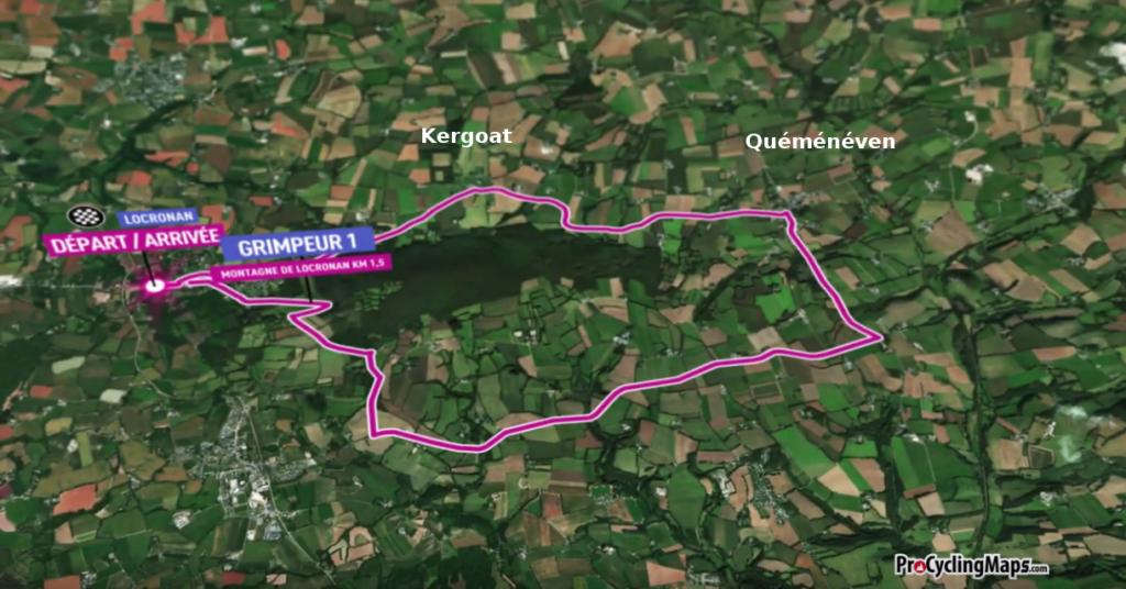 Parcours course cycliste 30 octobre 2020