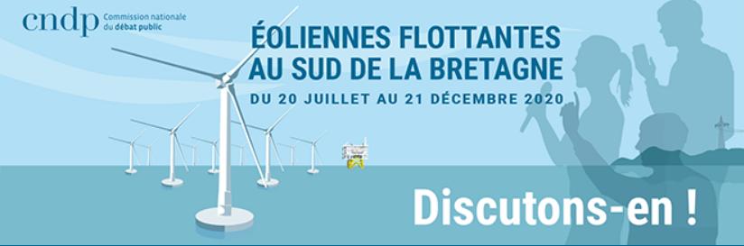 Débat public éoliennes flottantes sud Bretagne